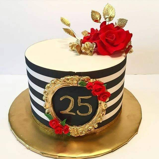 Prime 25Th Birthday Cake Is A Best Way To Express Your Love Funny Birthday Cards Online Alyptdamsfinfo